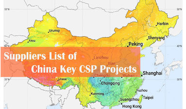 Report Update丨Suppliers List of China 13 Key Concentrated Solar Power Projects